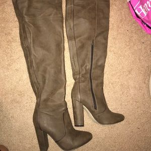 Shoes - NWOT Thigh High Leather Boots